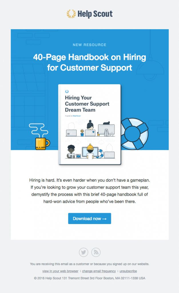 a free handbook on hiring for support